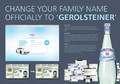 Gerolsteiner Bottled Water: Change Your Name