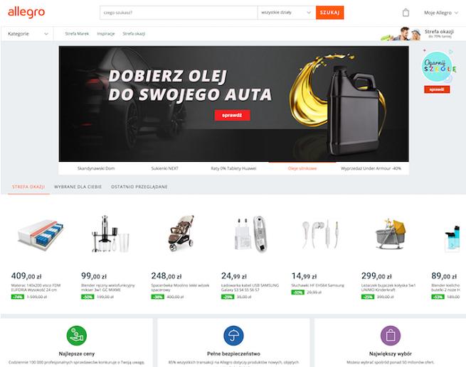 Allegro z nową stroną główną zmienia się w wielobranżowy sklep internetowy, jest jak eBay i Aliexpress (opinie)