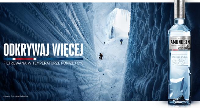 """""""Odkrywaj więcej"""" w kampanii wódki Amundsen od The Digitals"""