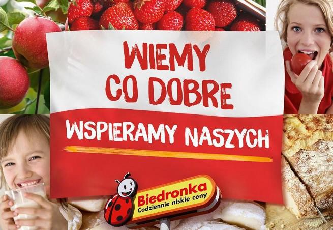 """""""Wiemy, co dobre - wspieramy naszych!"""" - polskie produkty i firmy w kampanii Biedronki"""