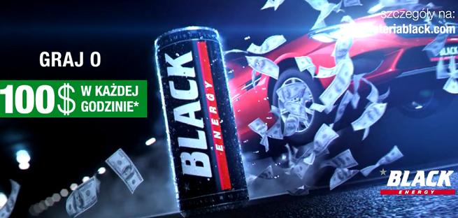 Black Energy Drink promowany w loterii ze 100 dolarami co godzinę (wideo)