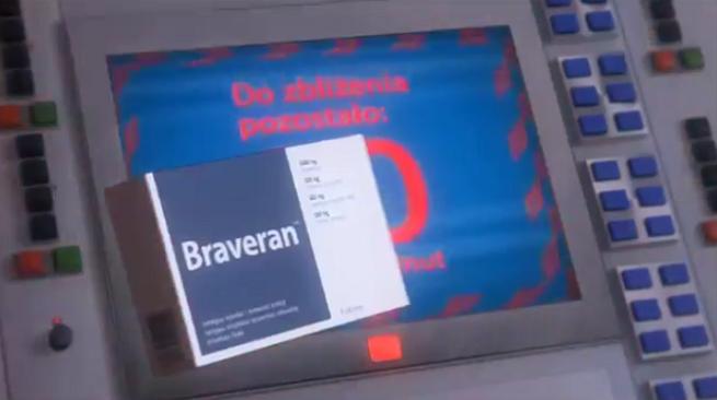 Zbliżenie z mocą w stacji kosmicznej reklamuje Braveran (wideo)