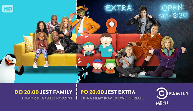 Amerykańskie seriale wieczorami w Comedy Central Family