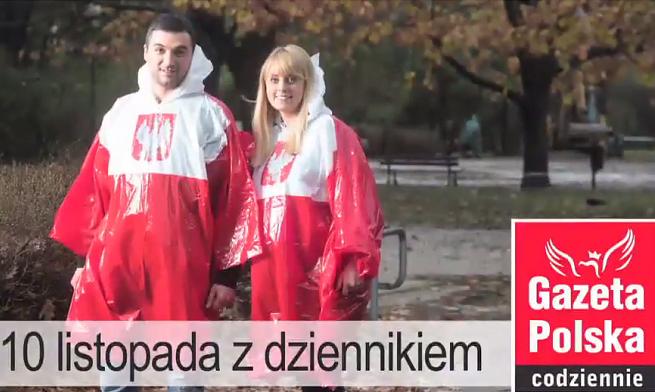 """""""Gazeta Polska Codziennie"""" w piątek z biało-czerwoną peleryną (wideo)"""