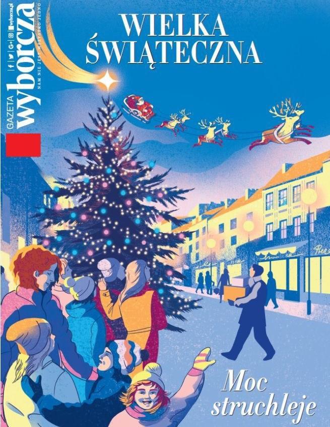 """Powiększona """"Gazeta Wyborcza"""" na Boże Narodzenie z wywiadami z Filipem Chajzerem i Magdaleną Środą"""