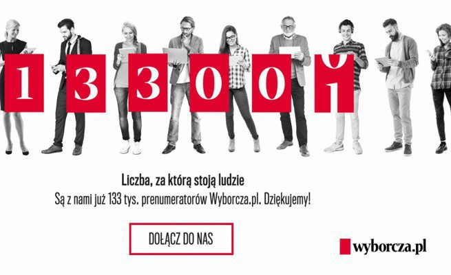 """133 tys. subskrybentów to sukces """"Gazety Wyborczej"""", Agora jest na właściwym kursie"""
