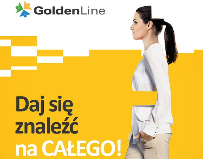 """""""Daj się znaleźć na całego"""" zachęca GoldenLine.pl w reklamach"""