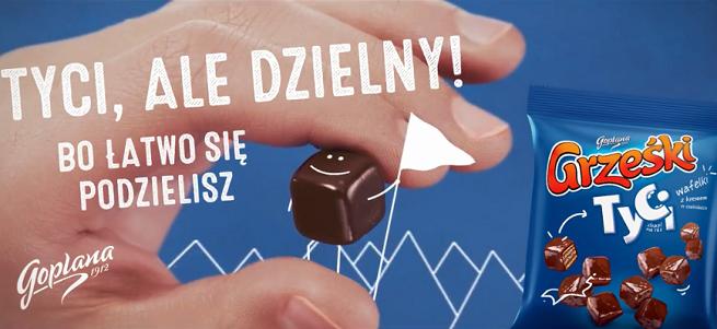 """""""Tyci, ale dzielny!"""" w kampanii wafelków Grześki Tyci (wideo)"""