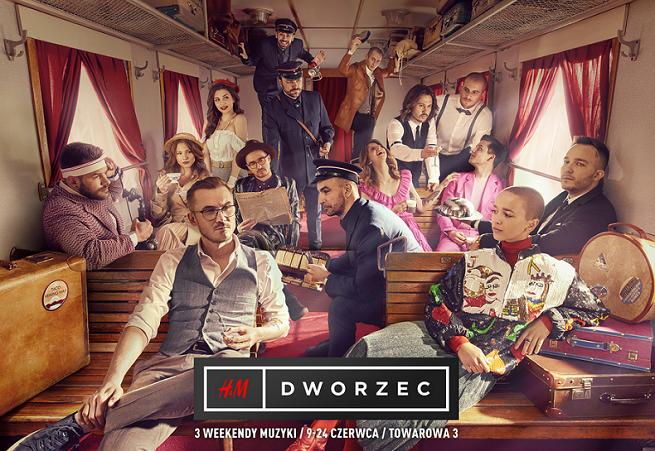 """Brodka, Pezet, Ten Typ Mes, The Dumlings i Fisz w pociągowym spocie koncertów """"Dworzec"""" od H&M (wideo)"""