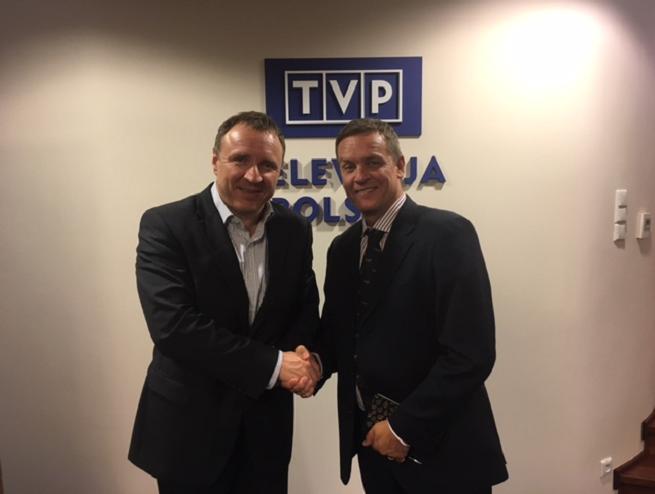 Jacek Kurski i Roberto Pedretti, fot. TVP