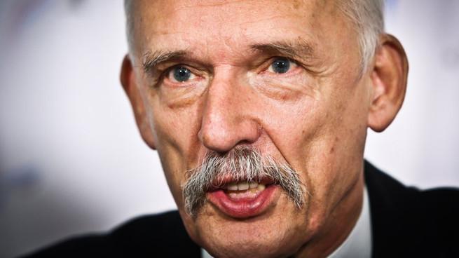 Janusz Korwin-Mikke, Foto: Rafał Guz / PAP