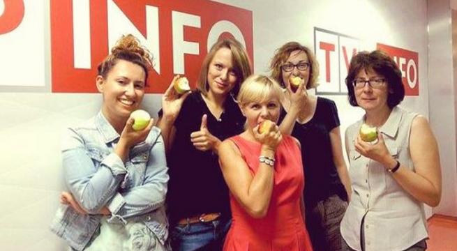 """Redakcja TVP Info dołącza do akcji """"Postaw się Putinowi - jedz jabłka i pij cydr"""""""