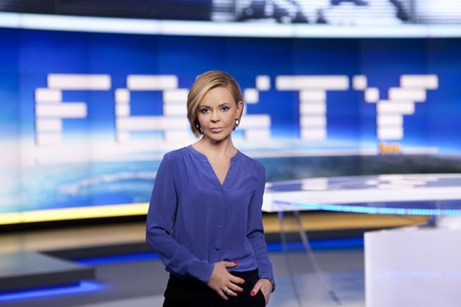 Justyna Pochanke; fot.: TVN / Krzysztof Dubiel