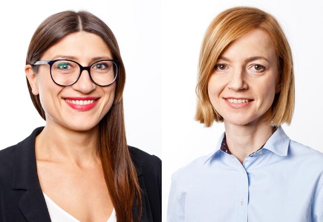 Od lewej: Justyna Sobolak i Justyna Spytek