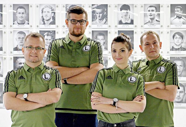 Od lewej: Seweryn Dmowski, Michał Łukasiewicz, Izabela Kruk, Adam Dawidziuk, fot. Legia Warszawa