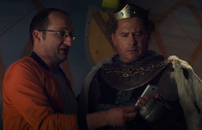 Robert Górski w bitwie pod Grunwaldem reklamuje 1410 GB w Orange Free na Kartę (wideo)