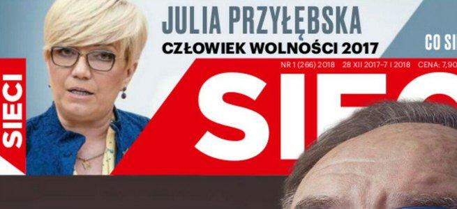 """Kpiny z Człowieka Wolności """"Sieci"""". Warzecha: żenada i wazelina, Karnowski: obrażasz dzielnego człowieka jakim jest Przyłębska"""