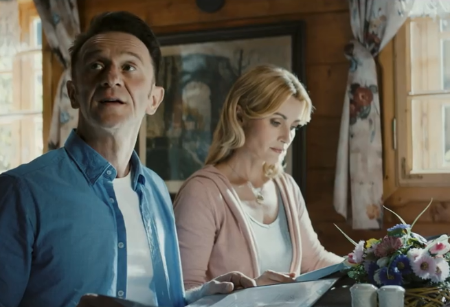 Joanna Brodzik i Paweł Wilczak w Bystrzycy Kłodzkiej reklamują SmartDom (wideo)