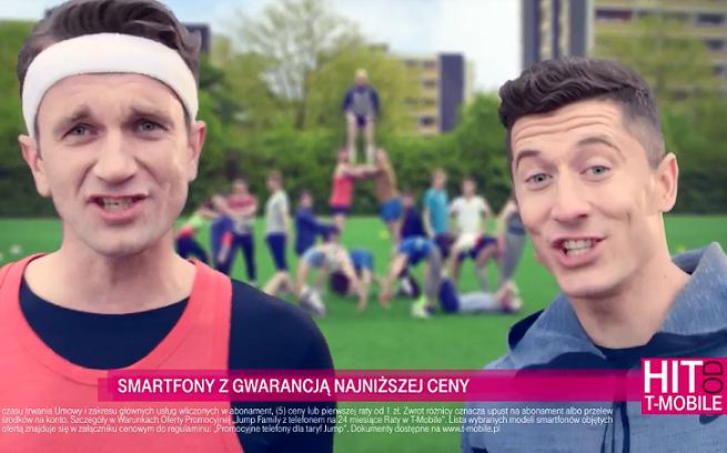 Tomasz Kot i Robert Lewandowski w reklamie T-Mobile