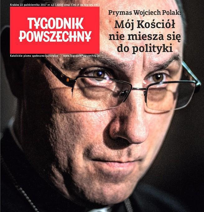 """""""Tygodnik Powszechny"""" przeprasza prymasa Polski za parafrazę jego słów na okładce"""