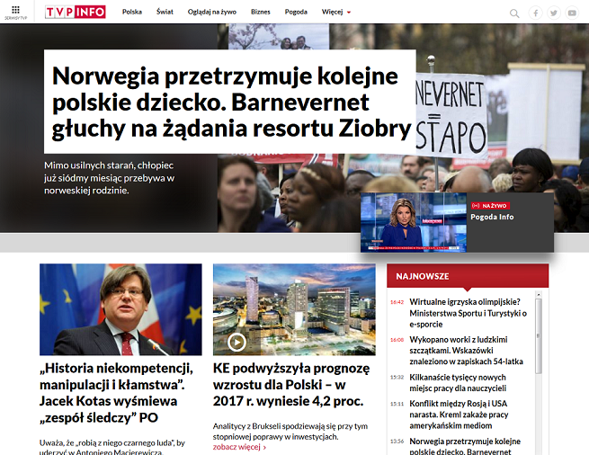 TVP.info w odświeżonej wersji: więcej wideo, docelowa odsłona w połowie 2018 roku