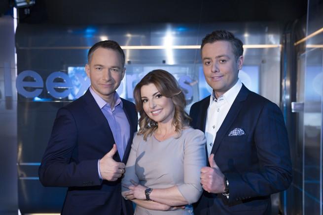 Rafał Patyra, Beata Chmielowska-Olech, Michał Cholewiński, fot. TVP