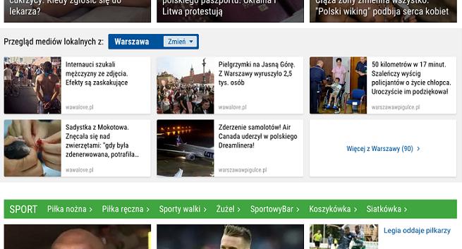 WP.pl z przeglądem mediów regionalnych na stronie głównej
