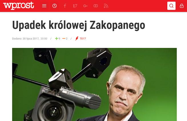 """""""Wprost"""" złoży zażalenie na postanowienie sądu o zakazie pisania o Chechlińskiej. """"Próba ograniczenia wolności mediów"""""""