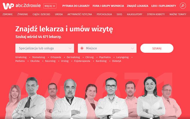 WP abcZdrowie pozwala umawiać wizyty lekarskie - Wirtualna Polska chce konkurować ze ZnanyLekarz.pl