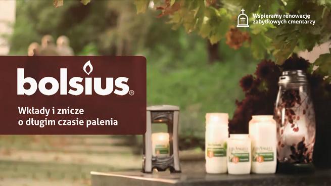 Producent zniczy i wkładów Bolsius z kampanią