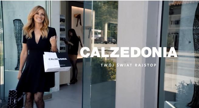Julia Roberts w zakupowym szale w reklamie Calzedonii (wideo)