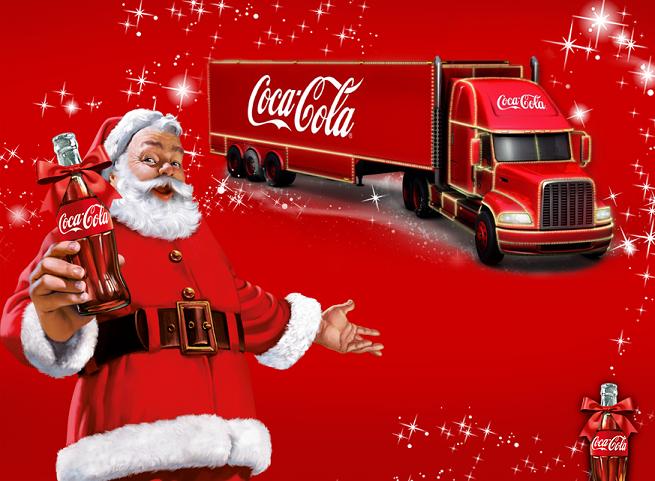 Konwój ciężarówek w bożonarodzeniowej kampanii Coca-Coli