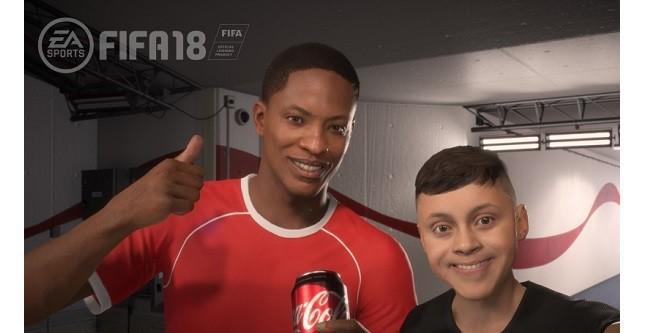"""Piłkarz z """"FIFA 18"""" pierwszym wirtualnym ambasadorem marki Coca-Cola (wideo)"""