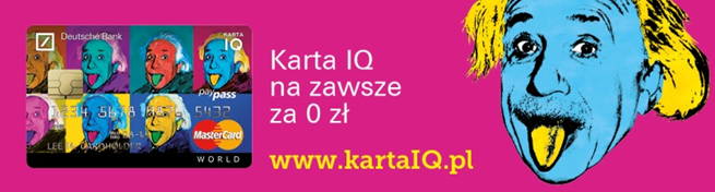 Pop-artowy Einstein reklamuje karty IQ w Deutsche Banku