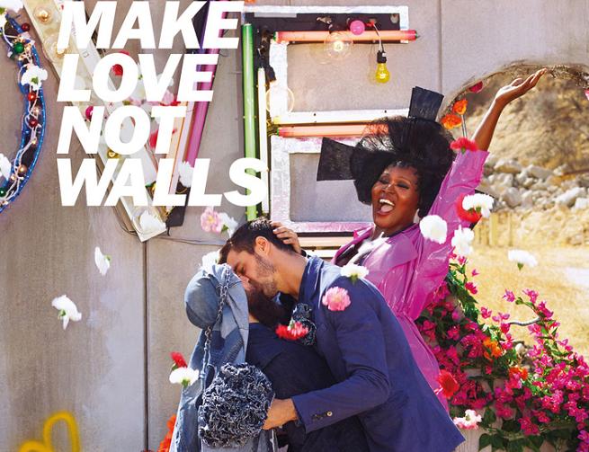 """""""Make love not walls"""" - całujący się mężczyźni w kampanii odzieży Diesel (wideo)"""