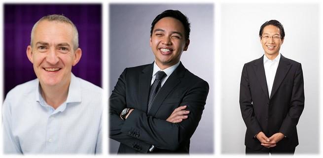 od lewej: Francis Keeling, Jay Trinidad, Eugene Huang