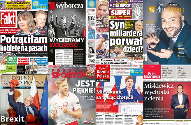 """""""Gazeta Wyborcza"""" z największym spadkiem, """"Fakt"""" liderem sprzedaży w marcu"""
