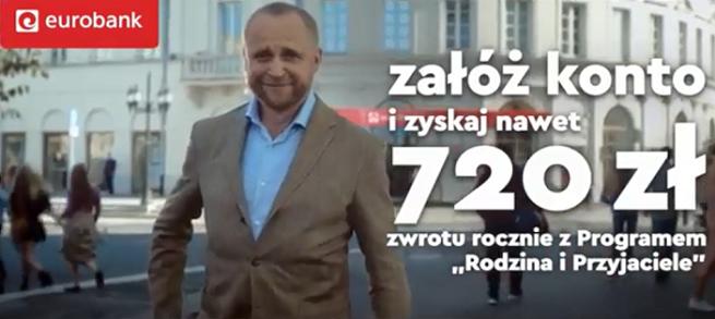 Piotr Adamczyk w kampanii programu Rodzina i Przyjaciele od eurobanku (wideo)