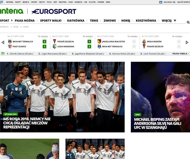 Interia będzie tworzyć serwis z Eurosportem. Koniec współpracy z Onetem