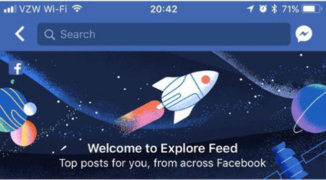Facebook zapowiada funkcję Explore Feed pomagającą w dotarciu do nowych treści