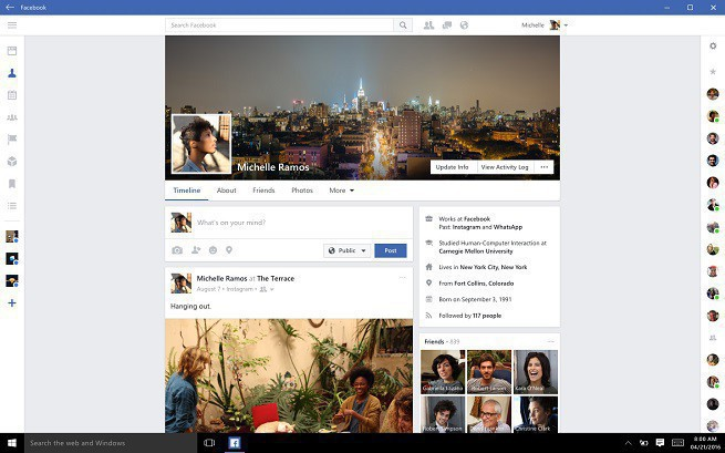 Microsoft wprowadza aplikacje Facebook, Messenger i Instagram do Windowsa 10