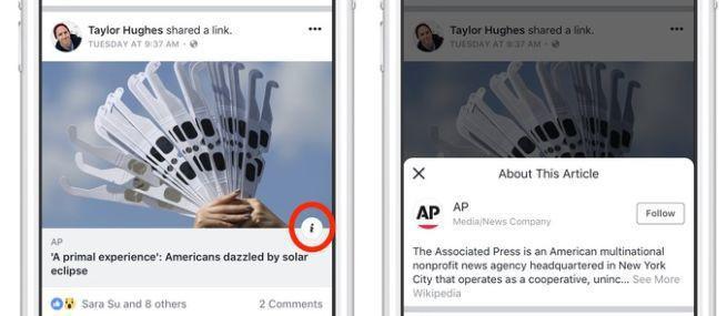 Facebook testuje przycisk do weryfikacji fanpage'y, żeby walczyć z fake newsami