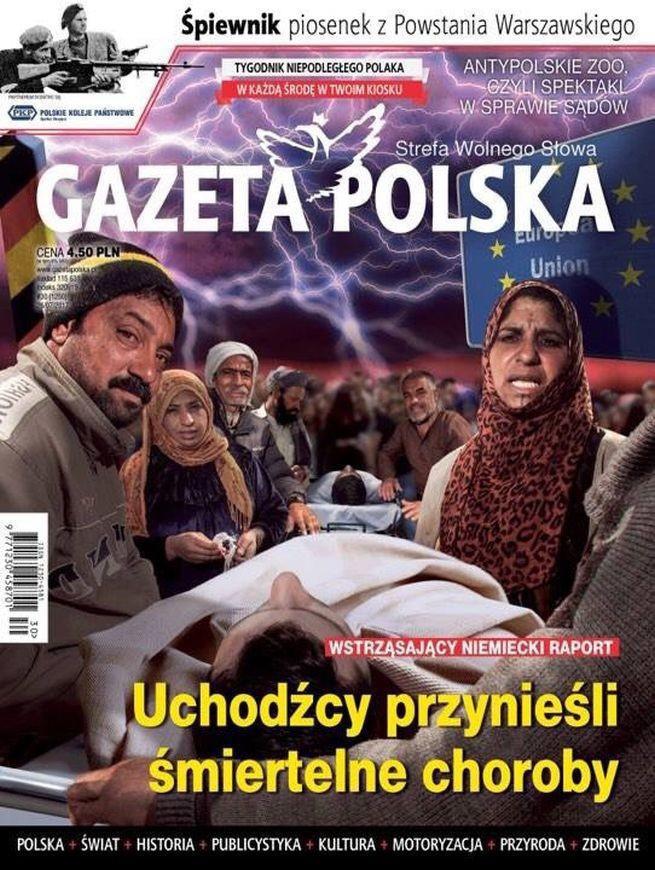 """Rasistowska okładka """"Gazety Polskiej""""? """"Krytykujący jak ciemnota w średniowieczu"""""""