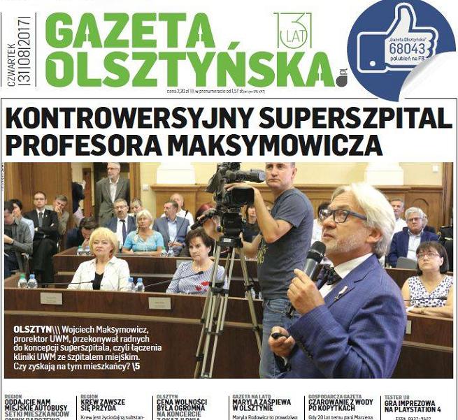 """Grupa WM łączy redakcje, """"Gazeta Olsztyńska"""" bez działów dodatków i korekty, roszady wśród wydawców"""