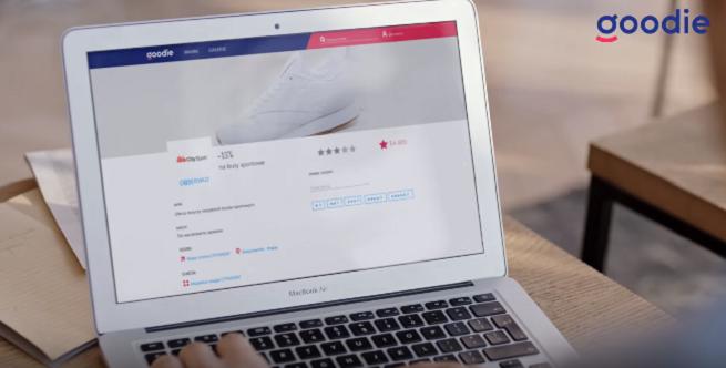 Aplikacja zakupowa goodie ze spotem promocyjnym w internecie