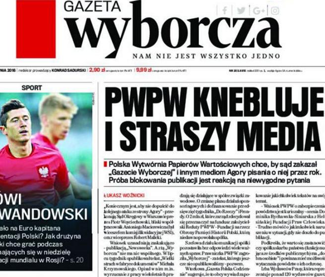 """Agora nie musi przepraszać za tekst o uczestnictwie pracowników PWPW we mszy. """"Prezent gwiazdkowy"""""""