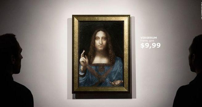 """Rama ważniejsza od """"Zbawiciela świata"""" Leonardo da Vinci w przewrotnej reklamie Ikei"""