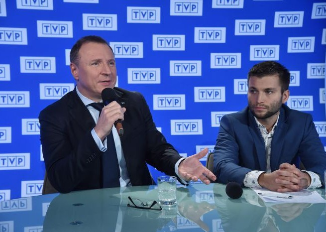 Jacek Kurski i Marek Szkolnikowski, fot. I. Sobieszczuk/TVP