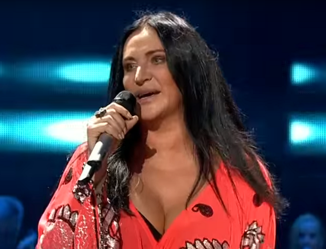Kayah na festiwalu w Opolu w 2015 r., fot. TVP