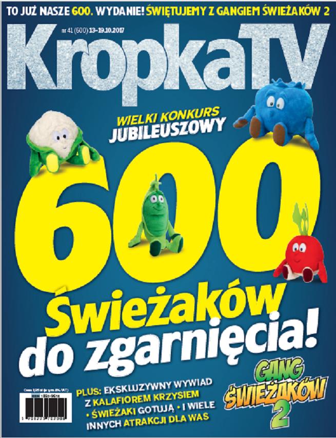 600 Świeżaków za darmo w jubileuszowym konkursie magazynu KropkaTV